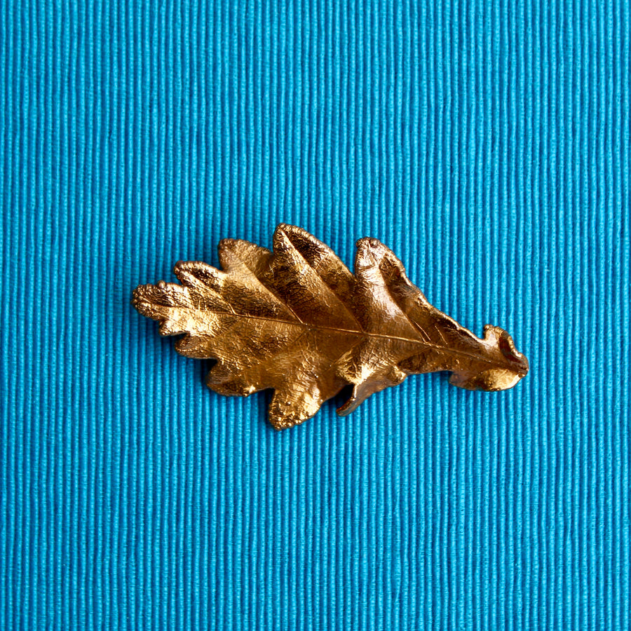 Electroplated Copper Small Oak Leaf