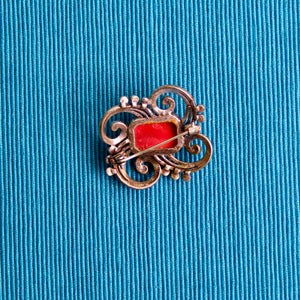 1940s Glass Scottish Style Brooch