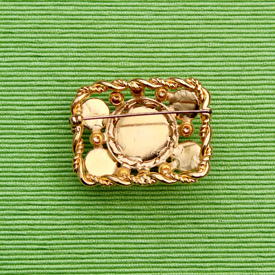 Brown Cabochon Rectangle