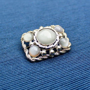 1960s Grey Cabochon Rectangle