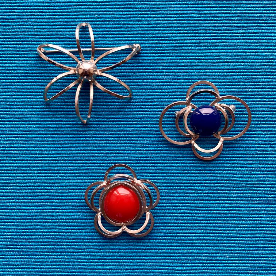 1980s Atomic Brooches
