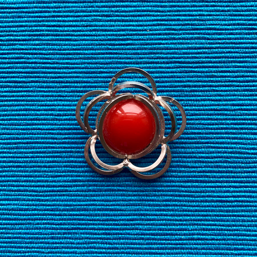 Rust Atomic Brooch