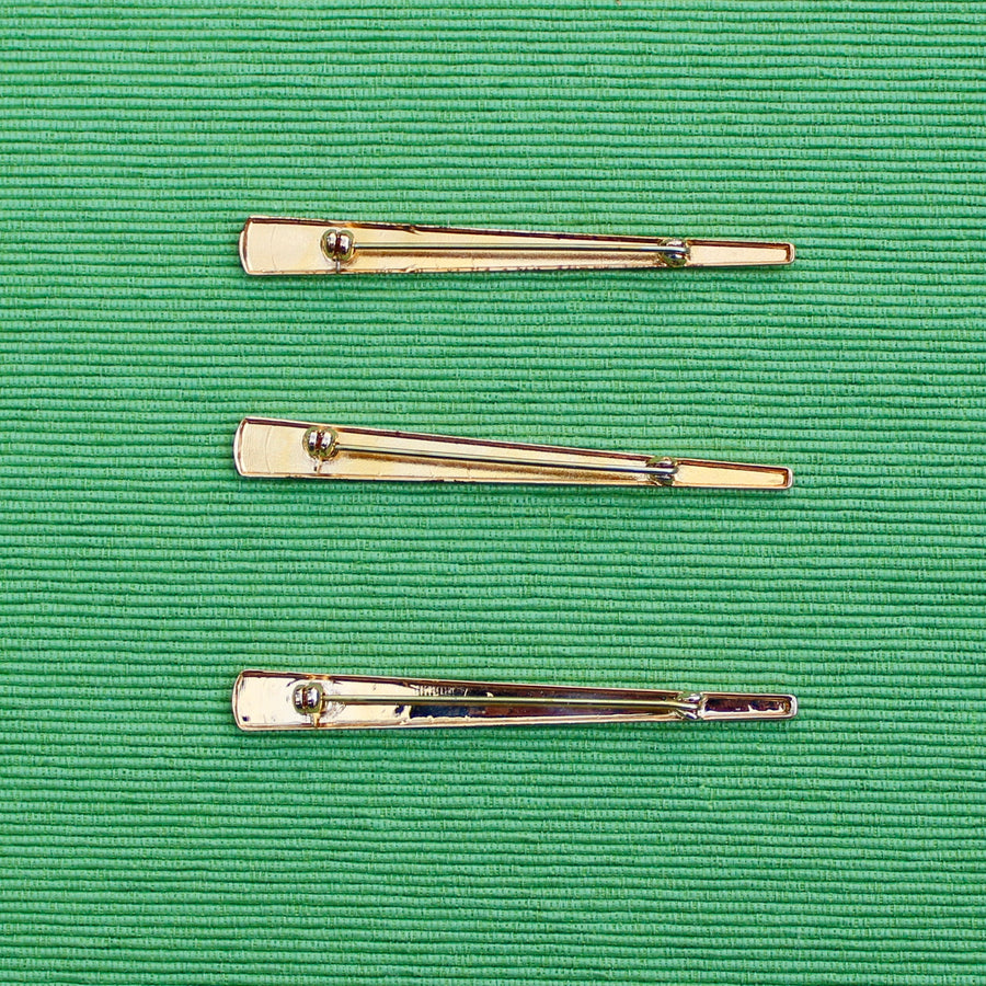 Long Gold Triangle Bar Pins