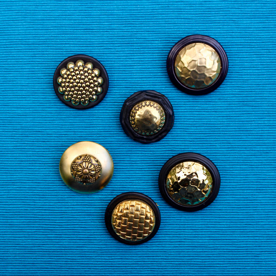 1980s Black and Gold Spheres
