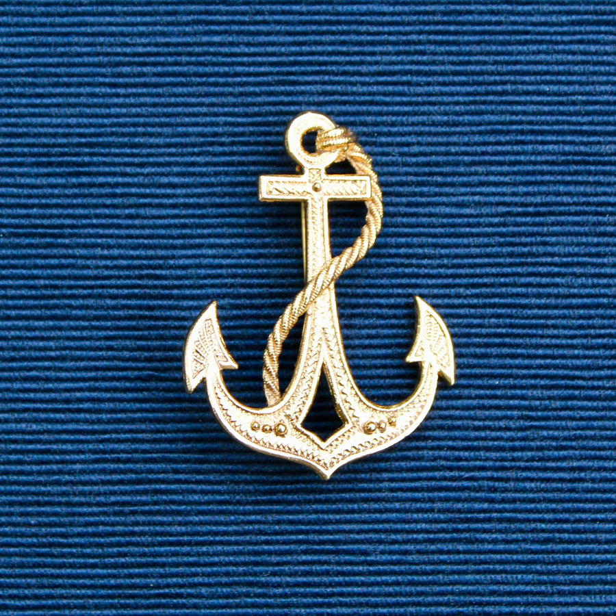 Textured Gold Anchor