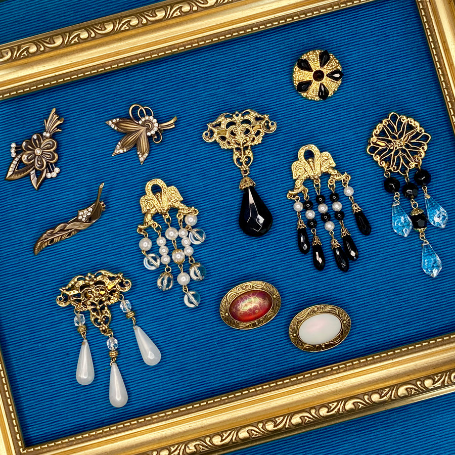 Gothic revival 1980s brooches vintage