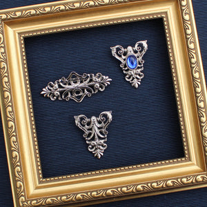 Blue Cabochon Filigree