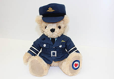 Teddy in RAF uniform