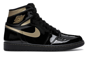 "Air Jordan Retro 1 HI OG ""Black Metallic Gold"""