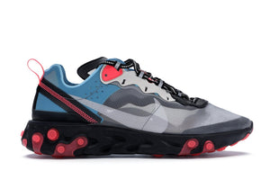 "Nike React Element 87 ""Blue Chill Solar Red"""
