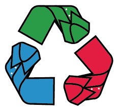 an icon showing how we use recycled materials in our packaging