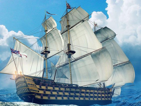 a ship with hemp sails