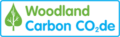 a image with the words woodland carbon on it