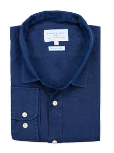 Midnight Blue Hemp Shirt