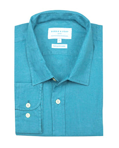 Petrol Blue Hemp Shirt