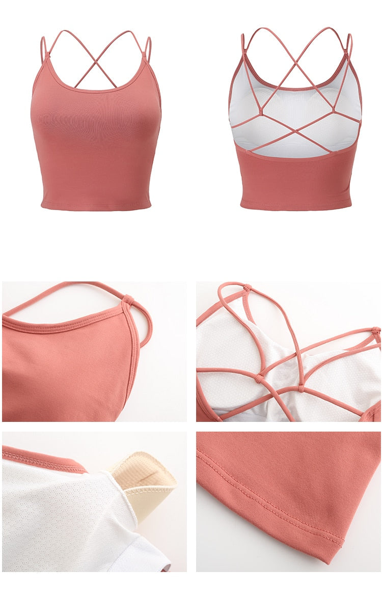 Cross Shoulder Strap Bra