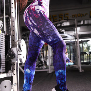 Colorful printed leggings for women