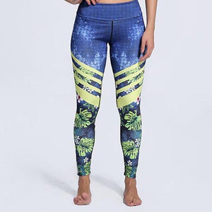 Blue&Floral Leggings