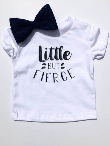 Little but Fierce design on white kids t-shirt.