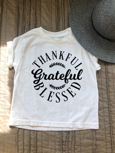 Thankful Grateful Blessed Tshirt