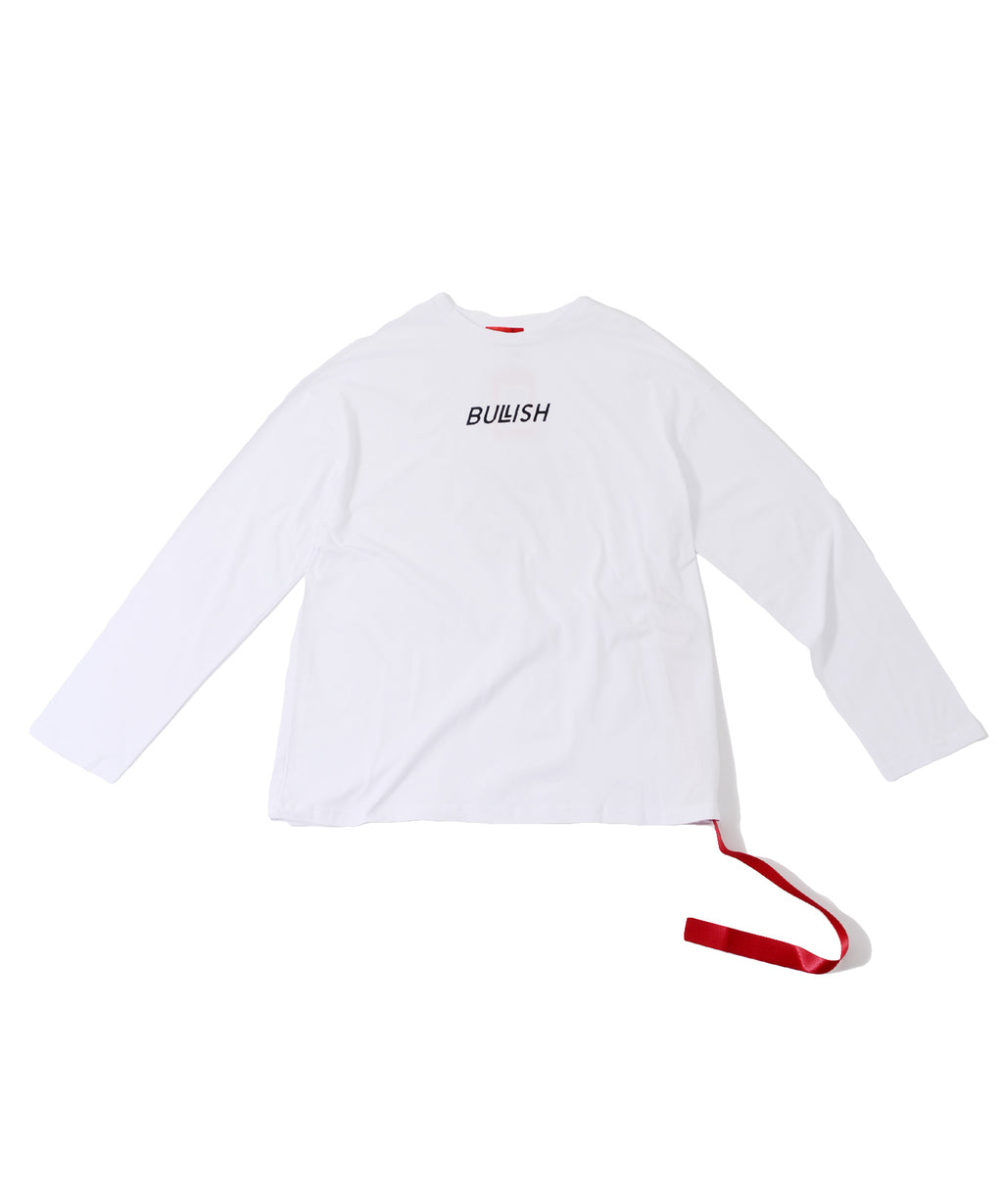 BULLISH Oversized Long-sleeved  T-shirt - with belt tape