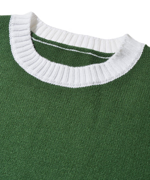 Oversized Bicolor knit sweater