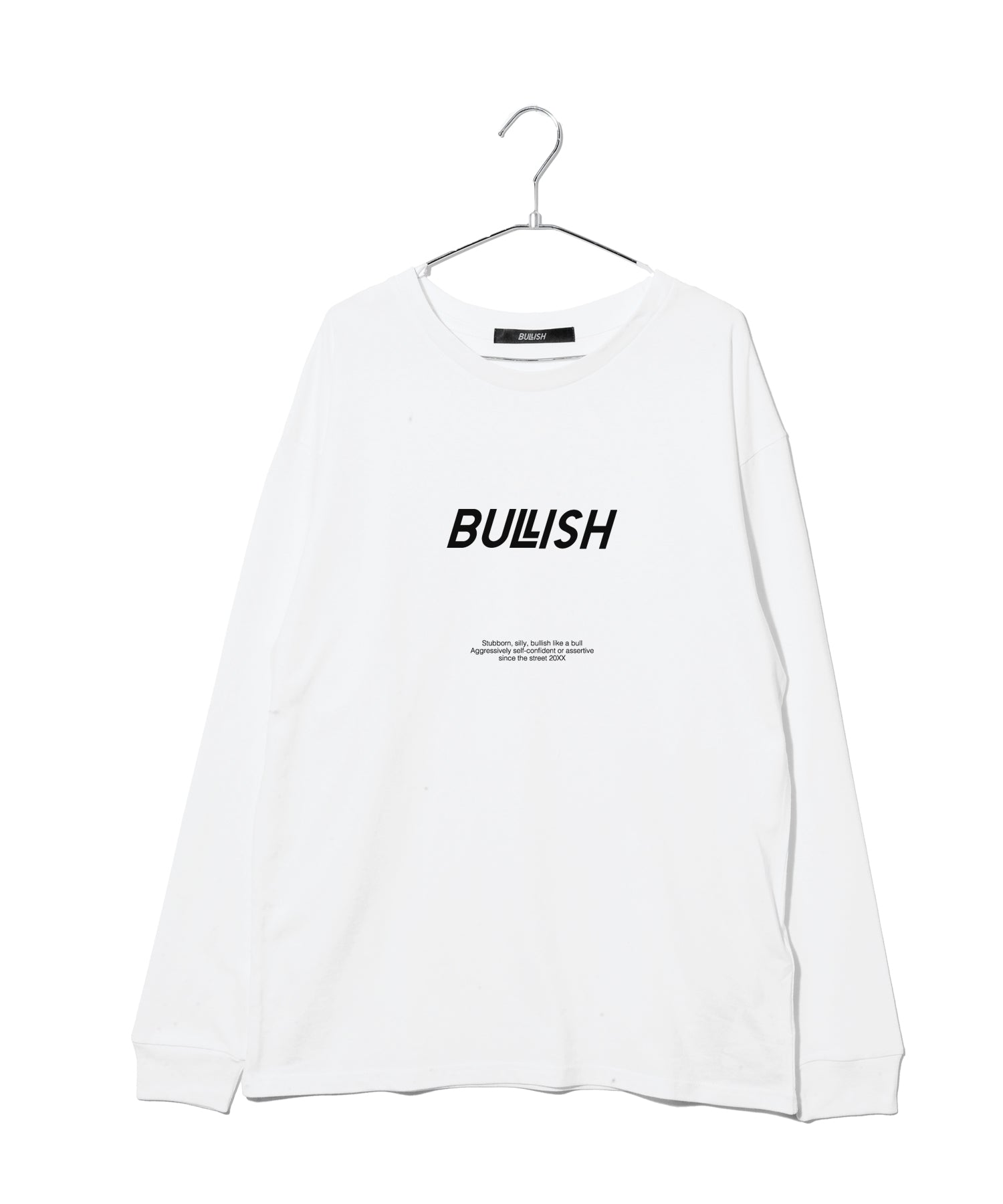 Logo print loose silhouette long sleeve T-shirt