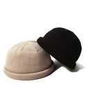 Knit roll cap