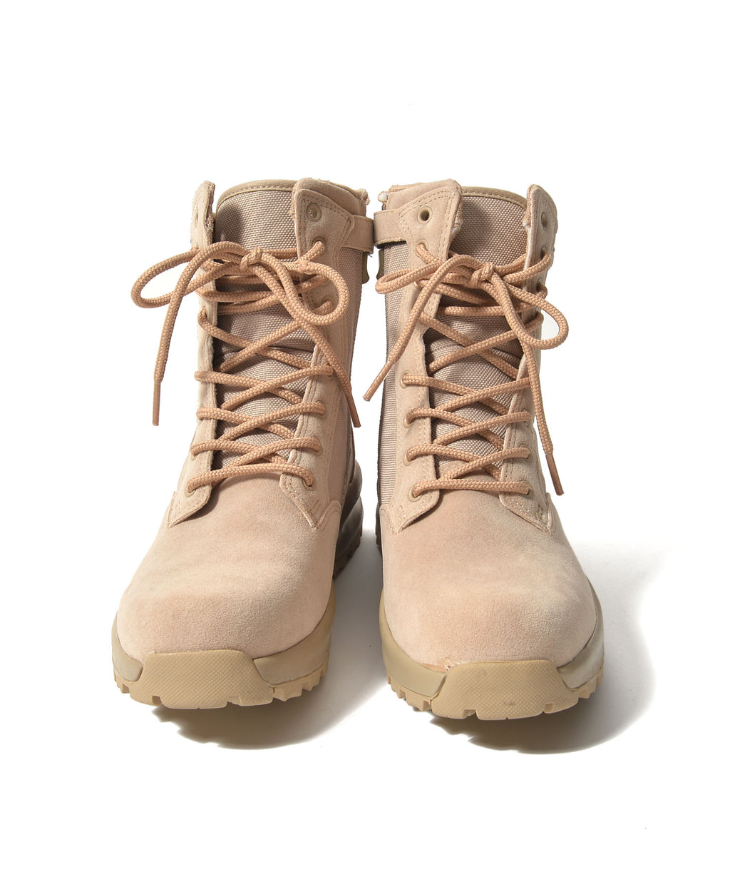 High cut lace up boots