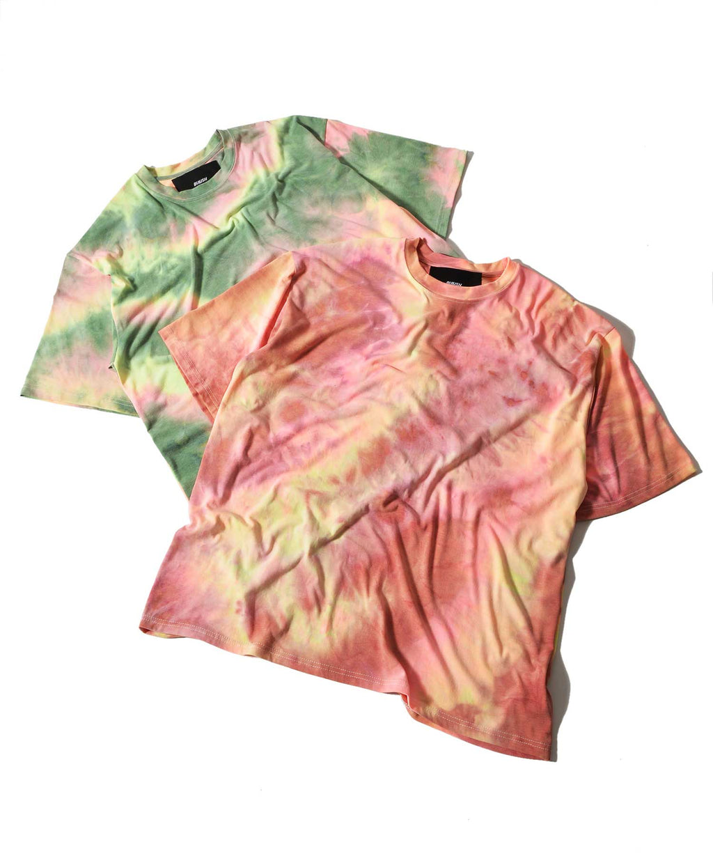 tie dye big short sleeve T-shirt