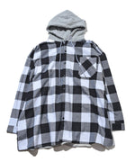 Big material long shirt with hood