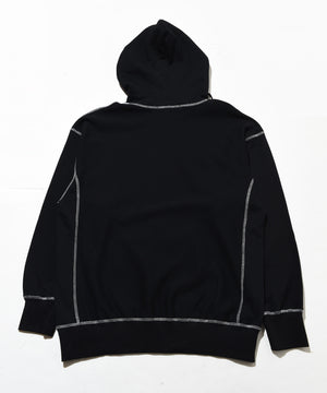 Sweat bicolor stitch hoodie