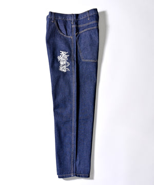 DENIM WIDE FIT TAPERED PANTS