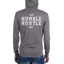 Load image into Gallery viewer, 'Stay Humble, Hustle Hard' Unisex full-zip hoodie
