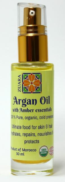 100% Pure Organic Argan Oil 30 ml with Essential Oils (Amber)