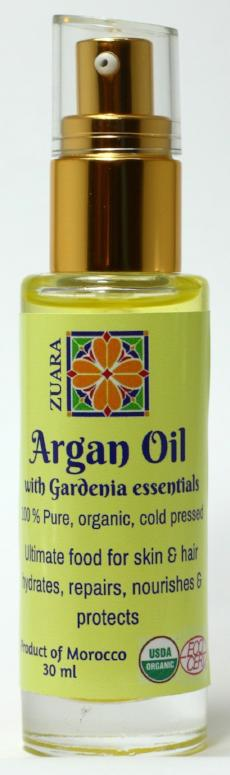 100% Pure Organic Argan Oil 30 ml with Essential Oils  (Gardenia)