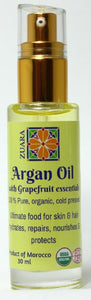 100% Pure Organic Argan Oil 30ml with Essential Oils (Grapefruit)