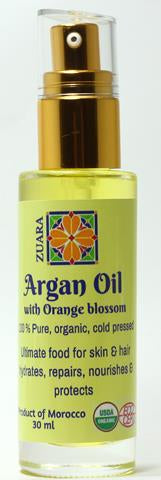 100% Pure Organic Argan Oil 30 ml with Essential Oils (Orange Blossom)