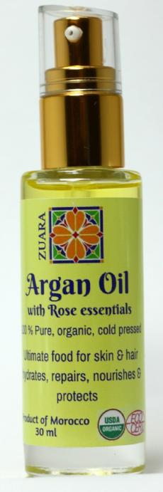 100% Pure Organic Argan Oil 30 ml with Essential Oils (Rose)