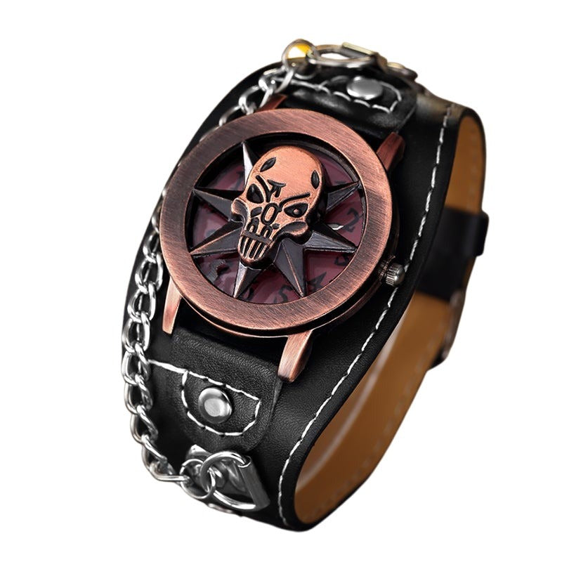 Metal Skull Watch