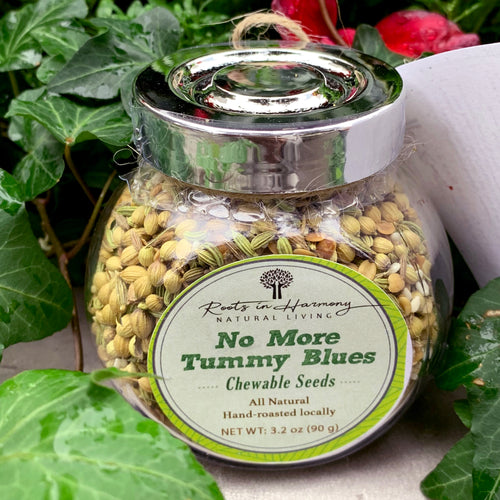 No More Tummy Blues Jar front