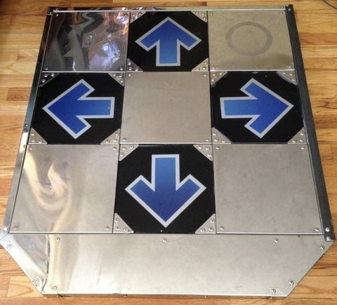 Dance Dance Revolution DDR MyMyBox BlueShark Hard Metal Dance Pad
