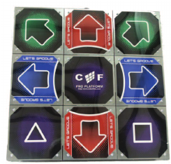 Cobalt Flux Dance Pad