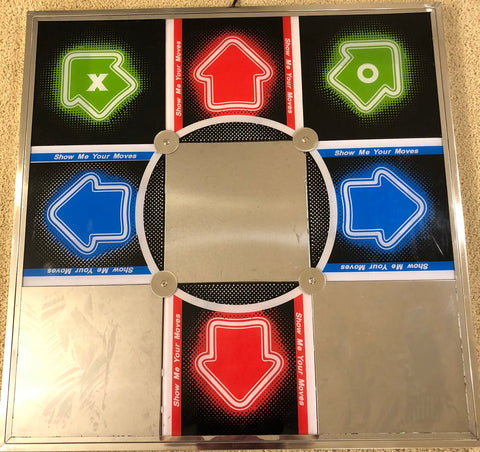 Dance Dance Revolution DDR TX1000 hard metal dance pad