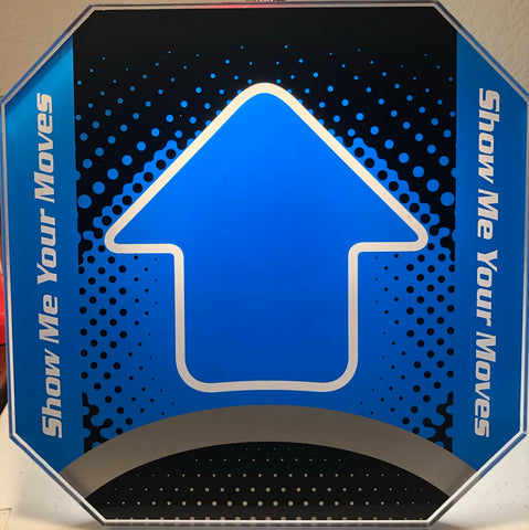 Dance Dance Revolution DDR Arcade Pad Arrow Panel Blue