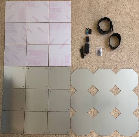 Cobalt Flux Style DIY Pad Kit, Dance Dance Revolution DDR, StepMania, In The Groove, ITG, Pump It Up, PIU, Do it Yourself dance pad kit, build a dance pad