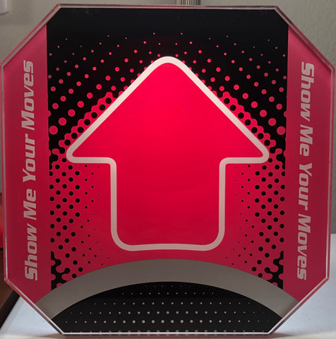 Dance Dance Revolution DDR Arrow Panel Pink for Arcade Pad