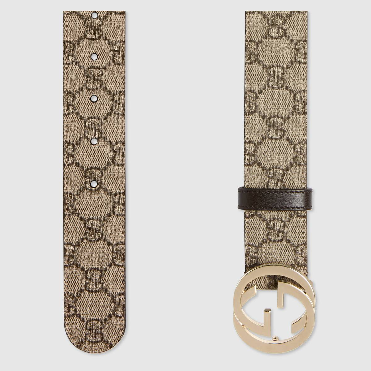 08ee33f464bfb6 Load image into Gallery viewer, GUCCI GG SUPREME BELT WITH G BUCKLE -  5starclothing.