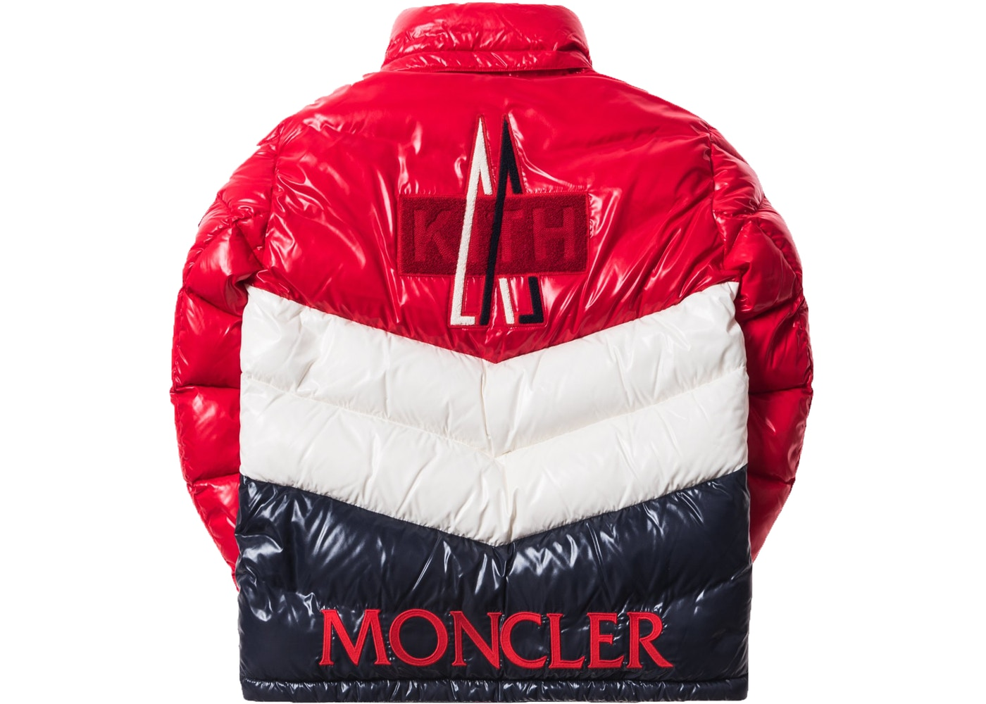 7a4300540 Kith x Moncler Rochebrune Classic Down Jacket Red/White/Navy