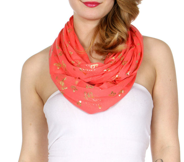 Butterfly Infinity Scarf